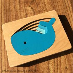 Los nuevos rompecabezas juguetes para bebés multicapa de madera infantil cajas de cartón de animales rompecabezas 3D