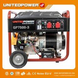 6.5Kw 7kw 4-AVC alimentation Mini Portable groupe électrogène en trois phases de l'essence avec les roues et poignée