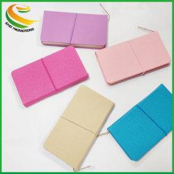 Haut de gamme A6 à couverture rigide en cuir pour ordinateur portable personnalisé avec bande élastique Super pratique Journal étudiant de l'ordinateur portable de l'école