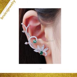 도매 형식 925 순은 Silver/9K/14K/18K 금 여자 보석 다이아몬드 귀걸이