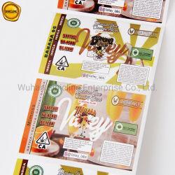 Sinicline سعر تنافسي ألوان متنوعة تخصيص الشعار الفريد تصميم ملصق طباعة الملصقات