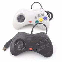 Contrôleur de jeu câblés USB Gamepad Joypad Joystick (pour Sega pour Saturne Style) pour PC uniquement
