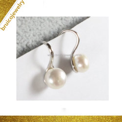 Shiny Pearl Earring Bijoux 925 Sterling Silver Earring pour les filles