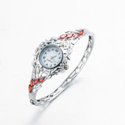Mode d'argent Ziccon Ryby Bangle Watch Bracelet