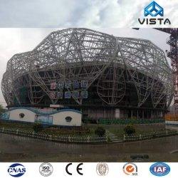 Сегменте панельного домостроения цвета с покрытием из сборных конструкций оцинкованного металла из гофрированного картона утюг Тин плиткой долго Span Skylight стальной опорной структуры Pavilion крыши