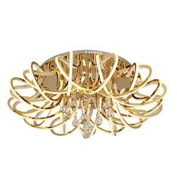 26ライト250W K9居間のためのDeocorativeのシャンデリアをハングさせる水晶アクリルのMordenホテルの金