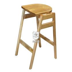 팔걸이 없는 오크 단단한 나무 경양식점 의자
