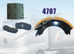 Guarnição de travão para caminhões pesados não Amianto (4707)