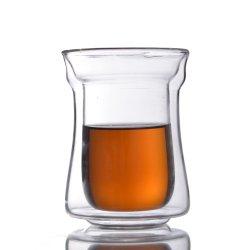 Ab48b85 Handmade-Mouth Borocilicate gros Soufflé à paroi double tasse à café tasse en verre