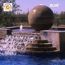 L'extérieur du parc de l'eau grande sculpture en marbre de Fengshui Fontaine à billes