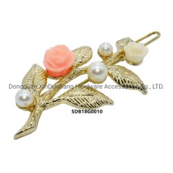 Poly rose et or du matériel en épingle à cheveux Leaft Accesoires