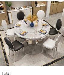 Muebles de hogar de cuero con la pierna de acero sillas de comedor