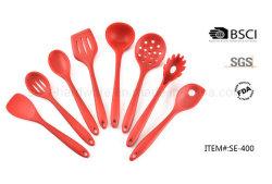 8pcs louche de soupe à base de silicone/pelle/Spatule/cuisine Cuillère/ustensiles de cuisine/outils de cuisson (SE-400)