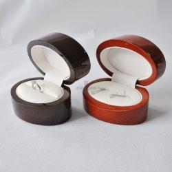 Custom твердых Woode овальные деревянныеукрашения кольцо Cufflink High-Glossy подарочной упаковке дисплея системы хранения данных