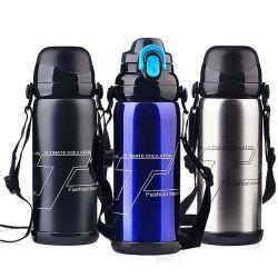 Heiß-Verkaufender Großräumiger Trommel-Sport-Wasser-Flaschen-Arbeitsweg-Großhandelskessel des Thermos-Edelstahl-800ml