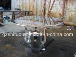 Tabela de aço inoxidável produção profissional de aço inoxidável de metal mobiliário criativo, escultura metálica arte de Artesanato, podem ser personalizados