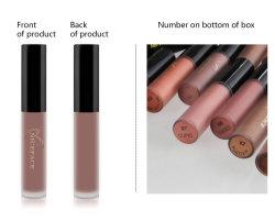 12-kleur Lippenstift van de Steen van de Lipgloss van de Make-up de Vastgestelde Non-Stick Vloeibare