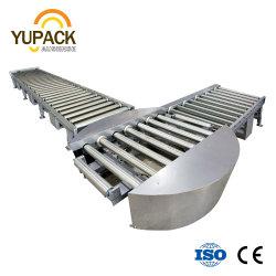 Transferencia automática /Turntable / Power // transportador de rodillos motorizados de palets para empaque