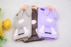 Caixa de borracha do telefone dos desenhos animados do coelho para o iPhone 7