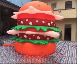 Big Inflatable Hamburger avec impression de logo pour la vente de publicité