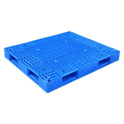 Paleta de Plástico Apilable de HDPE Reversible de Doble Cara para Trabajo Pesado