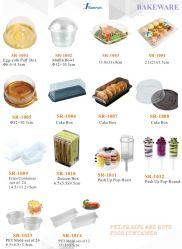 Las caderas y PS Pet BOPS Contenedor de alimentos Cake Box