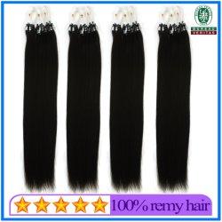 18 Zoll-seidige gerade brasilianische Jungfrau-Mikroschleifen-Ring-Haar-Extensions-Menschenhaar-Jungfrau Remy Haar