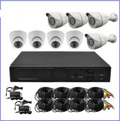 1.0MP Kits de CCTV DVR standalone com 4 Câmaras Dome Câmara Bullet 4