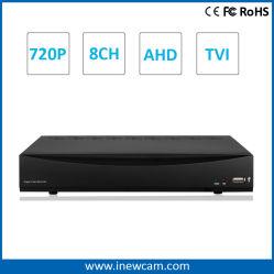 Hot H. 264 P2P HD 720p 8CH مسجل فيديو رقمي CE RoHS