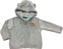 Giacca in pile di Corallo Baby Boy con cappuccio per l'inverno