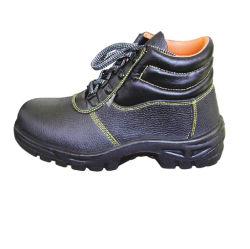Boa qualidade de couro genuíno tornozelo alta o calçado de segurança
