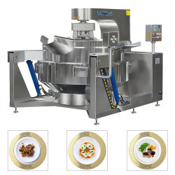 China Big Industrial Commercial Automatic Multi Planetary Tilting Curry Chili Bean Paste mengen maken van Electric Gas Steam Mushroom Soy Saus Kok wok
