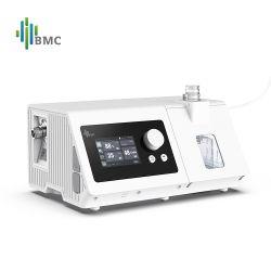 높은 유량 기능의 호흡으로 가열된 BMC 비침습성 인공호흡기 시스템 Bpap