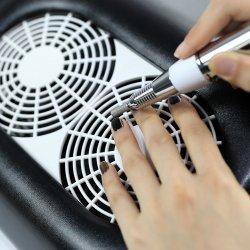 3 in 1 Elektrische draagbare Nail Dust Collector Vacuum Pink Voor manicure en pedicure