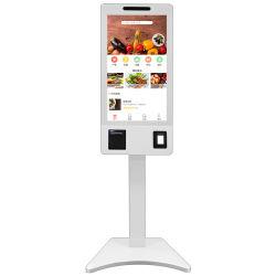 Restaurante de comida rápida Cashless Prepago Pantalla táctil inteligente de ordenar el pago Autoservicio quiosco/Verificar en el Kiosco de venta