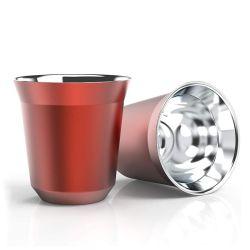 Tazza da caffè espresso in acciaio inox con isolamento a specchio da 160 ml