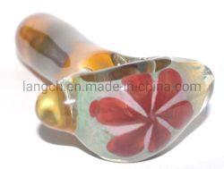 Inside Out jaune vert Fleur rouge DOT pipe à eau en verre narguilé Bécher de verre Verre tuyau ACCESSOIRES POUR FUMEUR