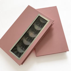 磁気閉鎖のプラスチック皿によって包むカスタムロゴの印刷5のパリのまつげボックス