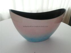 Efeito gradual em forma de lingotes de fantasia Varanda Yard Alpendre potes de plástico
