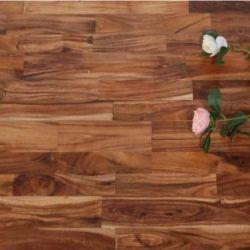 Color natural de Asia Prefinished hoja pequeña de madera maciza de madera de acacia Acacia maciza Anti-Scratch Pisos de madera y pisos de madera