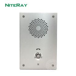 Porta Intercomunicador IP Phone com o sistema de telefonia PBX e o sistema de controle de acesso da porta podem ser amplamente utilizado em locais públicos de emergência
