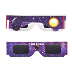 3D Cofre Papel Óculos solares eclipse solar óculos de visão