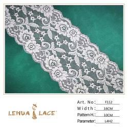 Mode Textile 9cm de largeur d'accessoires du vêtement élastique Stock dentelle en nylon