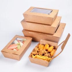 플라스틱 Windows를 가진 음식 Kraft 종이 수송용 포장 상자