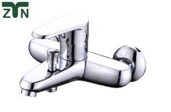 Grifo de baño de alta calidad de la cuenca del cuarto de baño de latón macizo grifo mezclador agua caliente y fría del grifo lavabo sola baraja de la palanca del Grifo de Oro Pulido montado