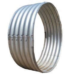 Forma de óvalo de acero galvanizado corrugado subterráneo del tubo de alcantarilla