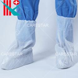 De beschikbare Beschermende Chirurgische Waterdichte Plastic CPE Met een laag bedekte Dekking van de Laars van pp voor het Ziekenhuis