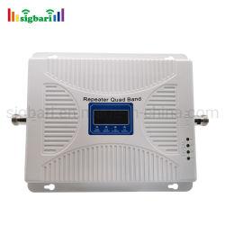 أحدث جهاز تكرار رباعي النطاق GSM 900 ميجاهرتز DCS 1800 ميجاهرتز UMTS 2100 ميجاهرتز 4G EU LTE 800 ميجاهرتز من الهاتف المحمول الداعم لإشارة الهاتف المحمول جهاز تكرار (repeater) للمكتب