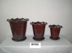 Maceta de terracota vidriada (HP680)