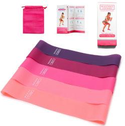 Gymnastik-Eignung-Übungs-Latex-Yoga-Widerstand-Band des kundenspezifischen Firmenzeichen-4PCS/5PCS/Set elastisches